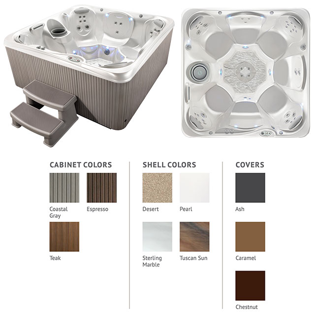 Rhythm Color Options | Hot Springs Spas available at the Recreational Warehouse Southwest Florida (Naples, Fort Myers and Port Charlotte Locations) Pool Warehouse
