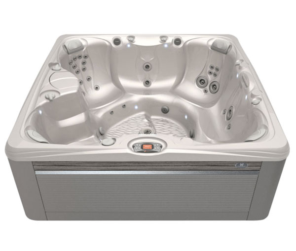 Salina Hot Tub in Ash and White Pearl | Caldera Spas available at the Recreational Warehouse Southwest Florida (Naples, Fort Myers and Port Charlotte Locations) Pool Warehouse