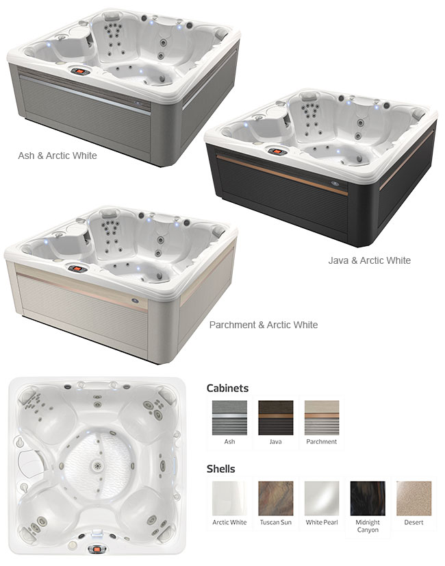 Salina Color Options | Caldera Spas available at the Recreational Warehouse Southwest Florida (Naples, Fort Myers and Port Charlotte Locations) Pool Warehouse