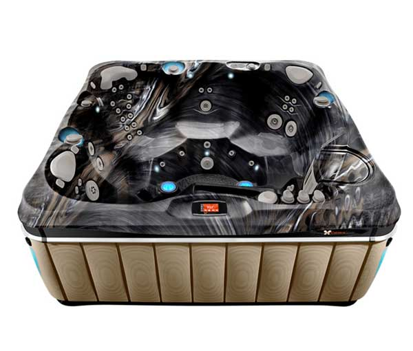 Tahitian Hot Tub in Sand and Midnight Canyon   Caldera Spas available at the Recreational Warehouse Southwest Florida (Naples, Fort Myers and Port Charlotte Locations) Pool Warehouse