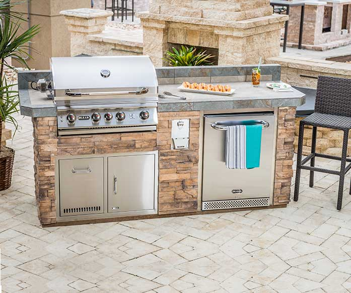 Sanibel from the Resort Collection of Designer Outdoor Kitchen Models | The Recreational Warehouse Naples, Fort Myers and Port Charlotte
