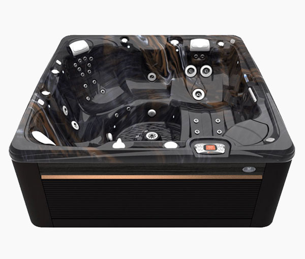 Seychelles Hot Tub in Java and Midnight Canyon   Caldera Spas available at the Recreational Warehouse Southwest Florida (Naples, Fort Myers and Port Charlotte Locations) Pool Warehouse
