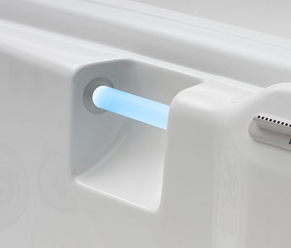 Seychelles Spa Details - Lighted Hand Rail | Caldera Spas available at the Recreational Warehouse Southwest Florida (Naples, Fort Myers and Port Charlotte Locations) Pool Warehouse