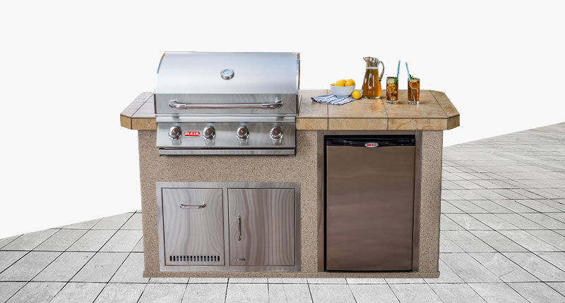 "Siesta Key Designer Outdoor Kitchen Model ""The Resort Collection"" from The Recreational Warehouse Southwest Florida's Leading Warehouse for Spas, Hot Tubs, Pool Heaters, Pool Supplies, Outdoor Kitchens and more!"