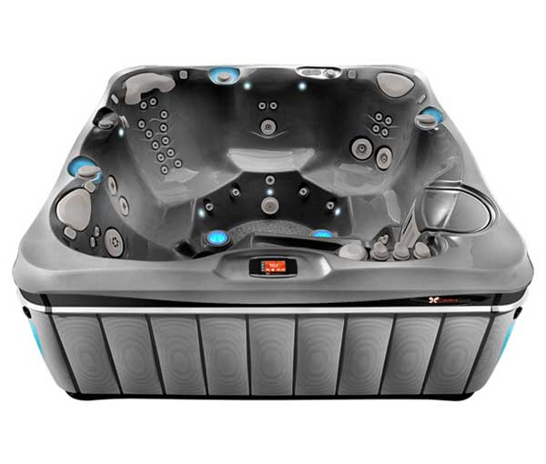Tahitian Hot Tub in Slate and Platinum | Caldera Spas available at the Recreational Warehouse Southwest Florida (Naples, Fort Myers and Port Charlotte Locations) Pool Warehouse