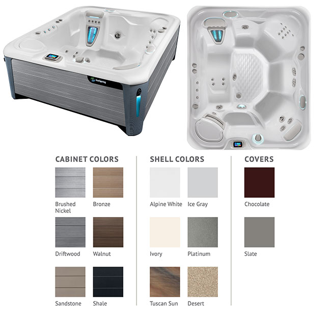 Sovereign Color Options | Hot Springs Spas available at the Recreational Warehouse Southwest Florida (Naples, Fort Myers and Port Charlotte Locations) Pool Warehouse