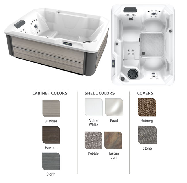 Stride Color Options | Hot Springs Spas available at the Recreational Warehouse Southwest Florida (Naples, Fort Myers and Port Charlotte Locations) Pool Warehouse