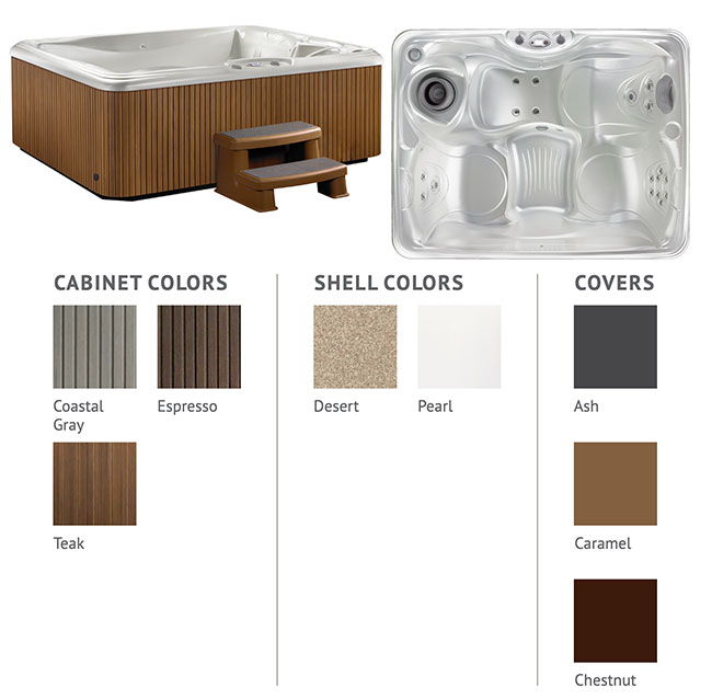 Stride Color Options   Hot Springs Spas available at the Recreational Warehouse Southwest Florida (Naples, Fort Myers and Port Charlotte Locations) Pool Warehouse