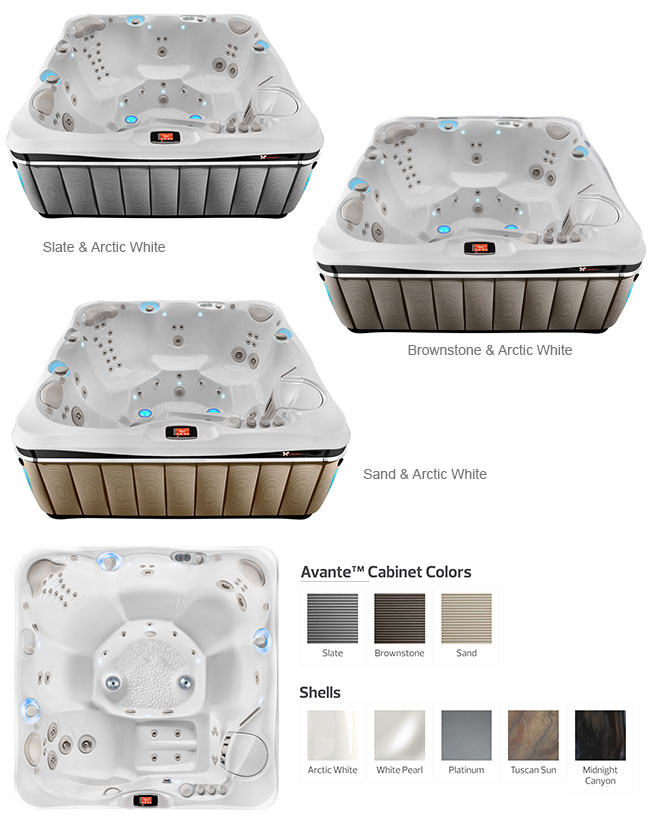 Tahitian Color Options | Caldera Spas available at the Recreational Warehouse Southwest Florida (Naples, Fort Myers and Port Charlotte Locations) Pool Warehouse