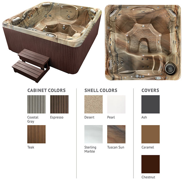 Tempo Color Options | Hot Springs Spas available at the Recreational Warehouse Southwest Florida (Naples, Fort Myers and Port Charlotte Locations) Pool Warehouse
