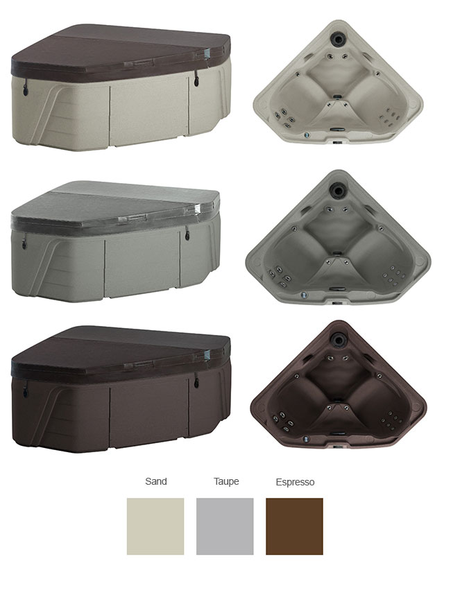Tristar Color Options | Freeflow Spas available at the Recreational Warehouse Southwest Florida (Naples, Fort Myers and Port Charlotte Locations) Pool Warehouse