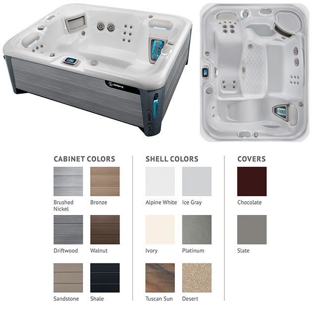 Triumph Color Options | Hot Springs Spas available at the Recreational Warehouse Southwest Florida (Naples, Fort Myers and Port Charlotte Locations) Pool Warehouse